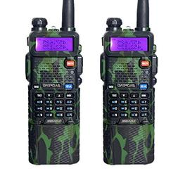 2Pcs/lot Baofeng Camouflage UV-5R with 3800mAh Battery Walki