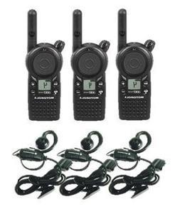 3 Pack of Motorola CLS1410 Two Way Radio Walkie Talkies with