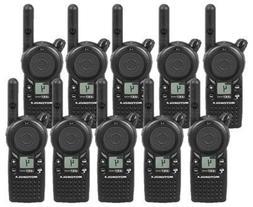10 Pack of Motorola CLS1410 Two Way Radio Walkie Talkies