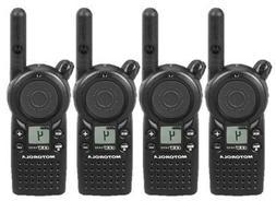 4 Pack of Motorola CLS1410 Two Way Radio Walkie Talkies