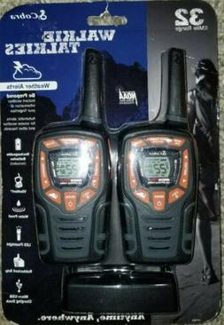 Cobra CXT565 2-Pack 2-Way / Weather Radio Walkie Talkies 32-