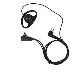 D Shape Earpiece Headset PTT for Motorola Two Way Radio Walk