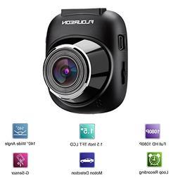 Dash Cam FLOUREON HD 1080P Car Camera Video Recorder with 14