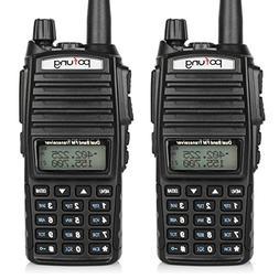 2-Pack Dual-Band 136-174/400-520 MHz FM Ham Two-Way Radio Tr