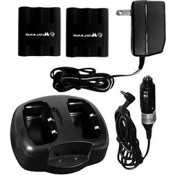 Midland Dual Desktop Charger with 2 Rechargeable Battery Pac