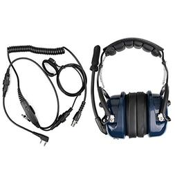 Retevis EH050K 2 Way Radio Headset Noise Cancelling VOX Mic