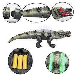 LtrottedJ Electric Simulational Crocodile Toy Lights with So