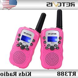 2x Retevis RT388 Walkie Talkies UHF VOX 0.5W 22CH 2-Way Radi