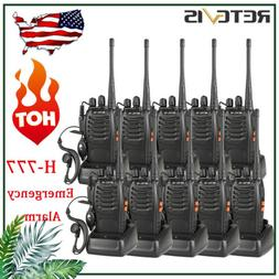 10XRetevis H777 Walkie Talkie 2Way Radio 1000mAh16CH UHF Lon