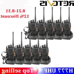 Retevis H777 Walkie Talkie long range two Way Radio UHF flas