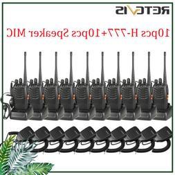 10x Retevis H777 Walkie Talkies 16CH UHF CTCSS/DCS 5W 2-Way