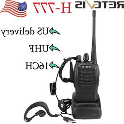Retevis H777 Walkie Talkies UHF 5W rechargeable two Way Radi