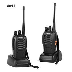 Ansoko Rechargable Walkie Talkies Long Range Portable Two Wa