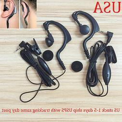 2x Headset/Earpiece Mic For Motorola Radio Talkabout Walkie