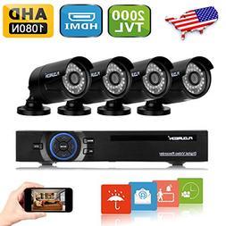 FLOUREON House Camera 8CH 1080N AHD CCTV DVR House Security