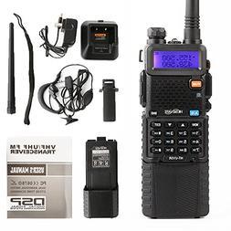 HESENATE HT-UV5R Plus HAM Two-way Radio 5-Watt w/ 3800mAh Ex