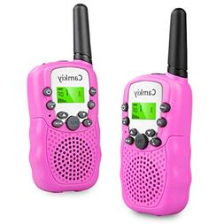 Walkie Talkies for Girls Pink Toys for 4 5 6 7 Year Old Kids