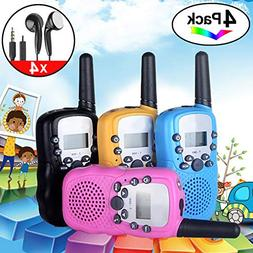 4Pack Kids Rechargeable Walkie Talkie Girls Boys Long Range