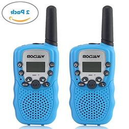 WALTSOM Kids Walkie Talkies, 2 Pack Portable T388 3KM Long R