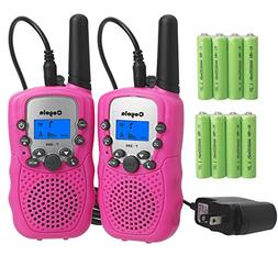 Rechargeable Walkie Talkies for Kids- Super Easy to Use 2- M