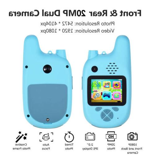 1 Pair Outdoor Kids Walkie with Camera Function 20MP Lens