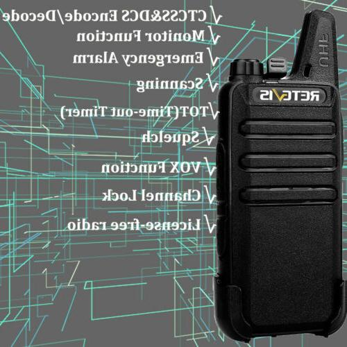 2XRetevis Walkie UHF462-467MHz TOT Scan Radio US