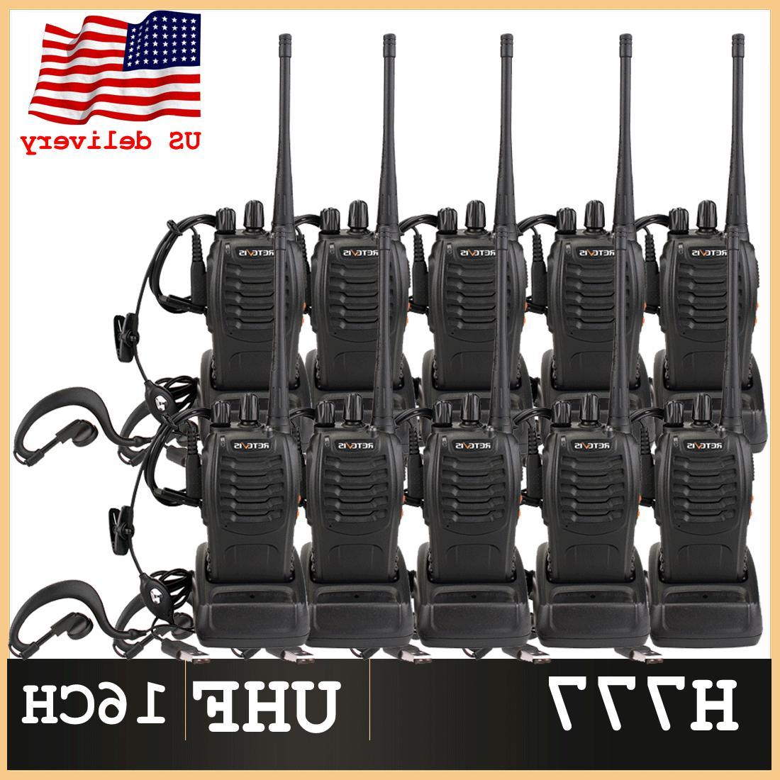 10xretevis h777 walkie talkies uhf 400 470mhz