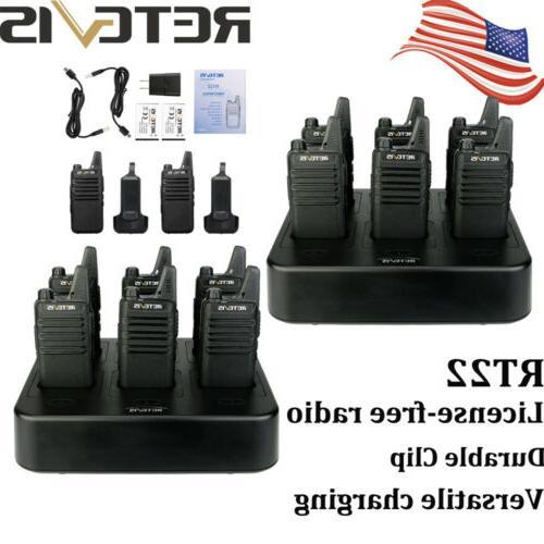 12x rt22 walkie talkies uhf16ch vox tot