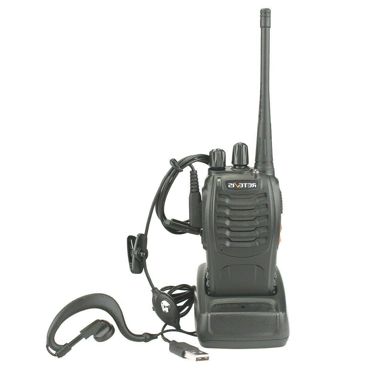 Retevis H777 UHF 400-470MHz 5W 16CH 1000mAh 2-Way Radio Walk