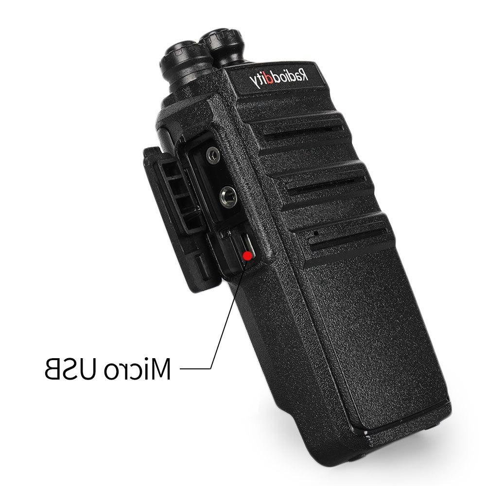 2 Radioddity UHF 16CH Rechargeable Range <font><b>Walkie</b></font> Micro USB Charing