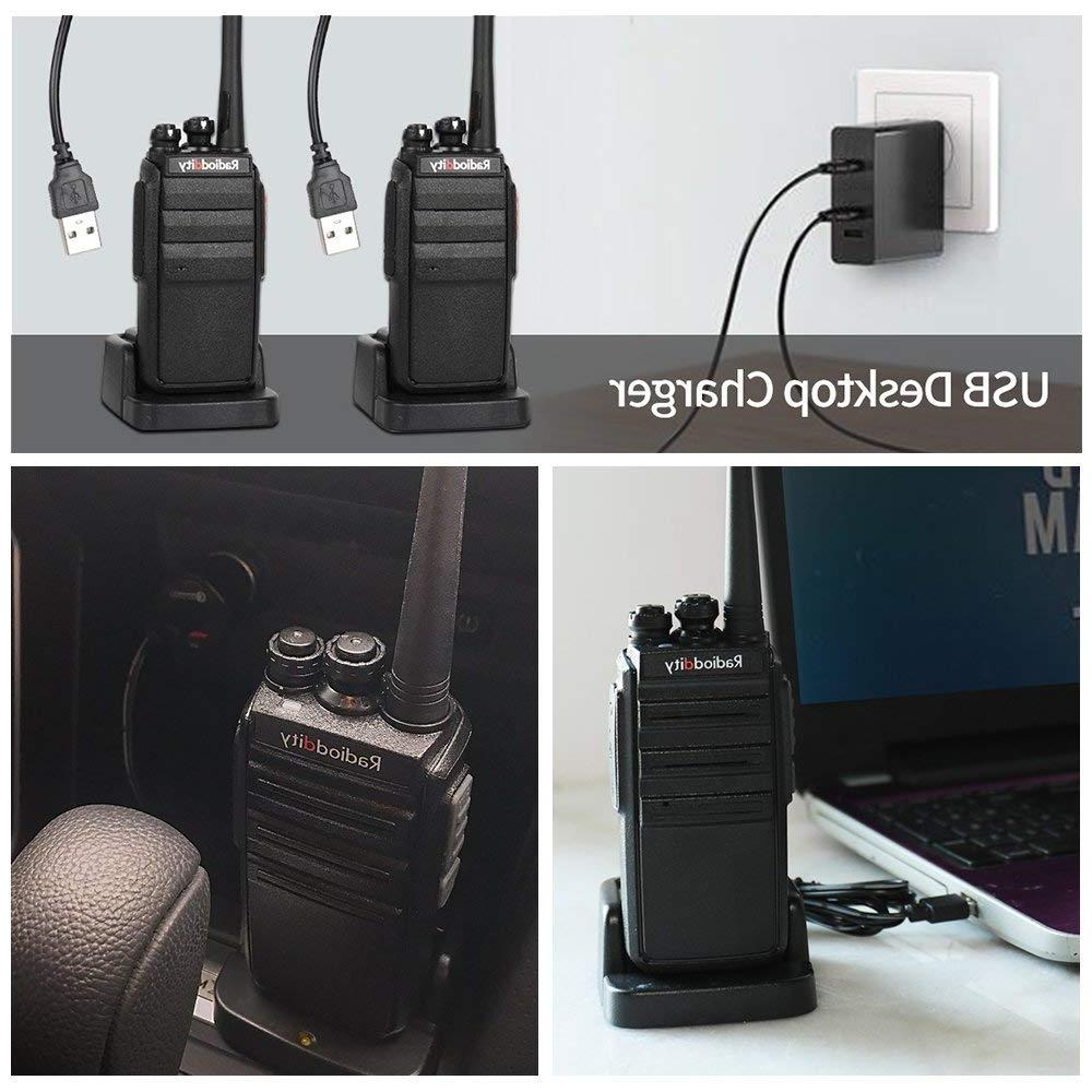 UHF Way Radio 16CH Rechargeable VOX Range <font><b>Talkie</b></font> Micro USB Charing with <font><b>Charger</b></font>+Earpiece