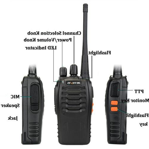Retevis Long Range Way Radio 16CH Rechargeable <5W