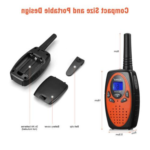 FLOUREON Walkie Talkies FRS/GMRS 2-Way 3KM