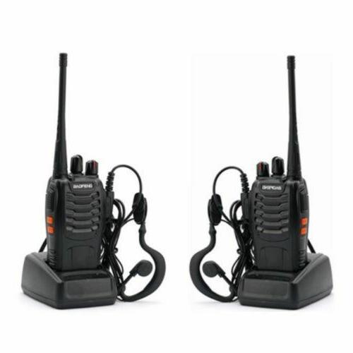 2 xBF-888S Walkie Talkies Portable Handheld UHF VHF Ham Radi