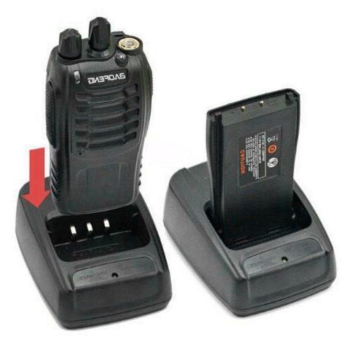 2 Portable Handheld Ham Radio+2Earphones+2Batts