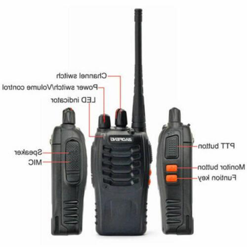 2 Set Two Radio Range Walkie Headset Waterproof