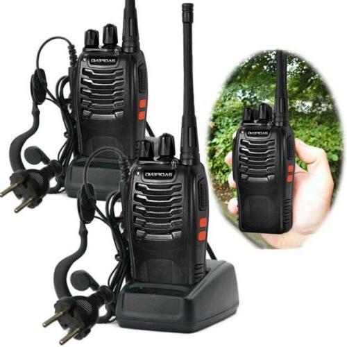 2 50 Mile Two Way Range Talkie Headset Waterproof