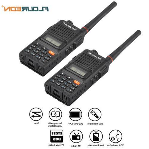 FLOUREON 2pcs LCD 7KM Display 22 400-470MHz FM Talkies