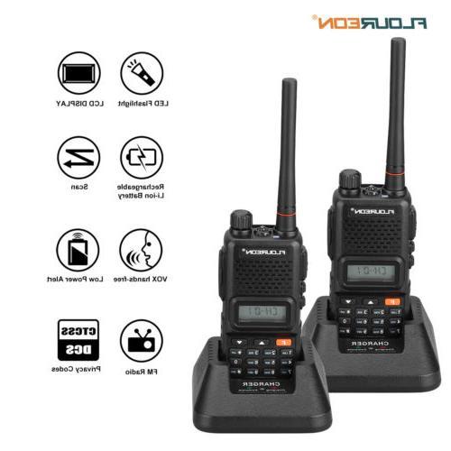 FLOUREON 2pcs 7KM 400-470MHz Twin FM Talkies