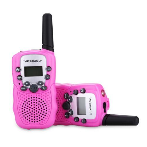2x Floureon 22 Channel Twin Walkie Talkies UHF462-467MHZ Two