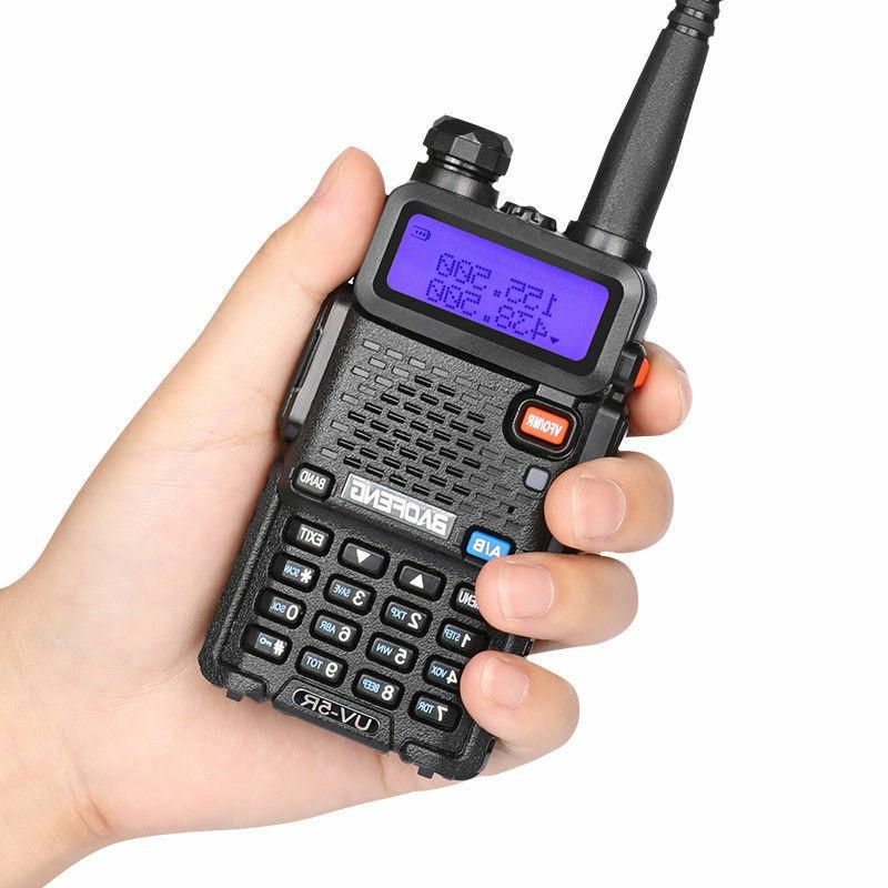 Baofeng UV-5R Walkie Talkie Headset VHF UHF Ham Portable 2-W