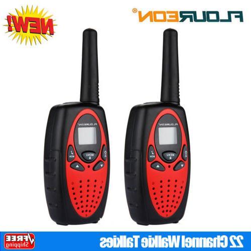2x 22 channel twin walkie talkies uhf462