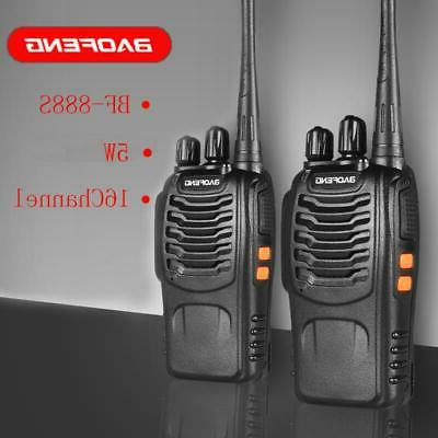2x baofeng bf 888s uhf walkie talkie