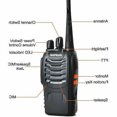 2X Baofeng UHF Walkie Talkie 2 Way Radio Long
