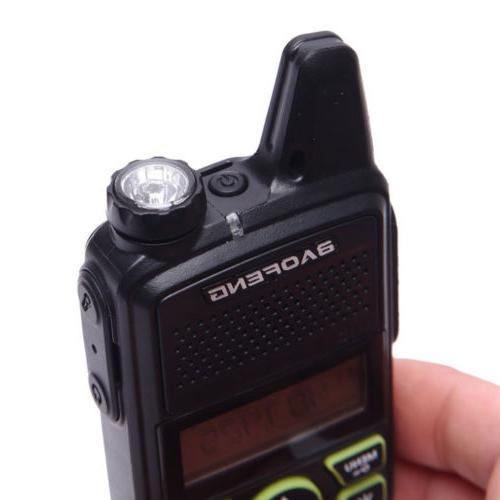 2x Baofeng BF-T1 Way Radio UHF Walkie Talkie Earpiece