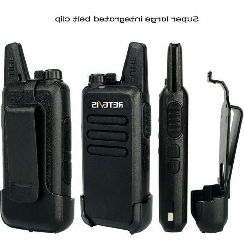2*Retevis RT22 16CH Talkie UHF dustproof 2W/1W Two-Way