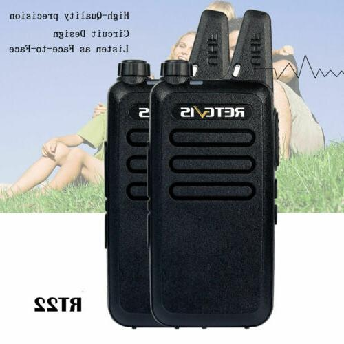 2XRetevis Walkie Talkies UHF462-467MHz 16CH TOT Scan Squelch Radio US