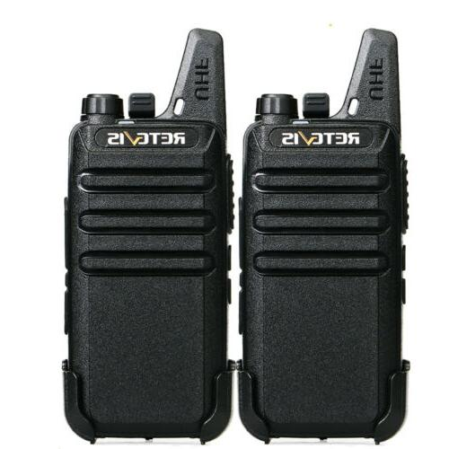 2x rt22 walkie talkies uhf462 467mhz 16ch