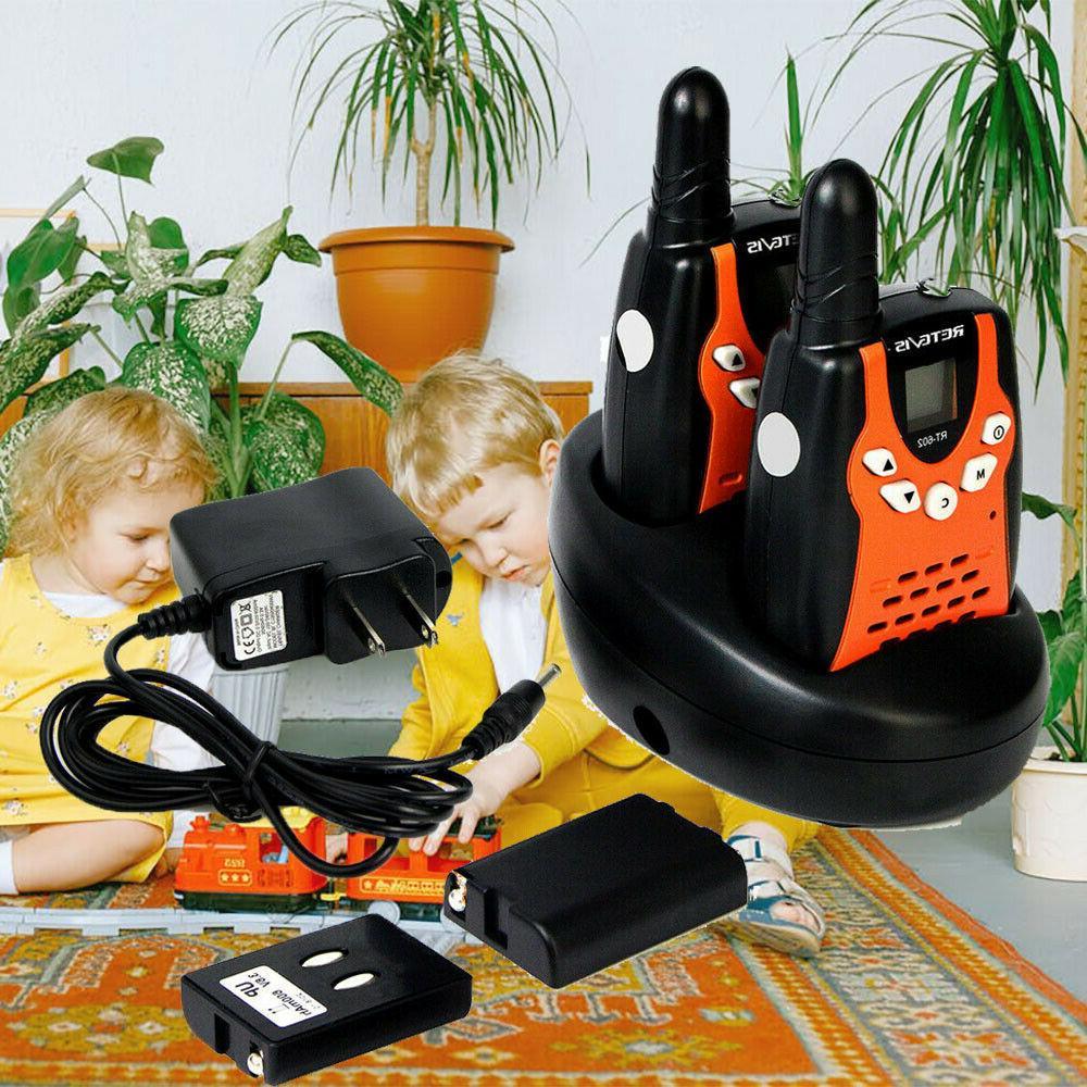2XRetevis RT-602 Walkie Talkie UHF 22CH VOX LCD Display DCS 2-way Radio for Kids