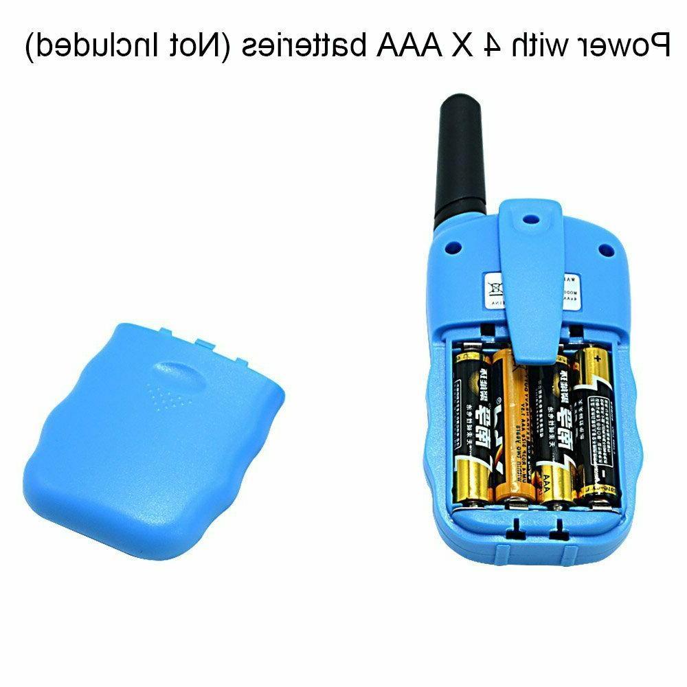 2x Toy Talkie 22CH Kid Two Way RadioBlue 3 Built